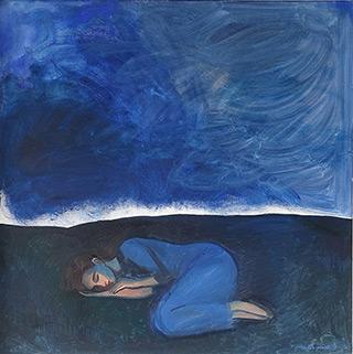 Katarzyna Karpowicz : Blue dream : Oil on Canvas