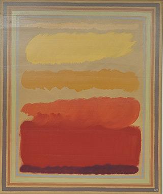 Łukasz Majcherowicz : Yellow cloud : Mixed media on canvas