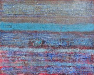 Martyna Merkel : Horizontal lines : Acrylic on canvas