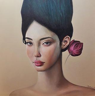 Katarzyna Kubiak : Look : Oil on Canvas