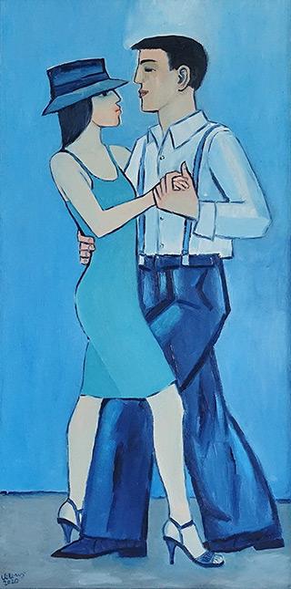 Krzysztof Kokoryn : Couple in dance : Oil on Canvas