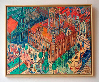 Edward Dwurnik : Torun : Oil on Canvas