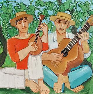 Krzysztof Kokoryn : Italian duo : Oil on Canvas