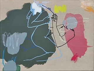 Agnieszka Sandomierz : Couple : Tempera on canvas