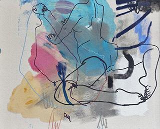 Agnieszka Sandomierz : Difficult position : Tempera on canvas