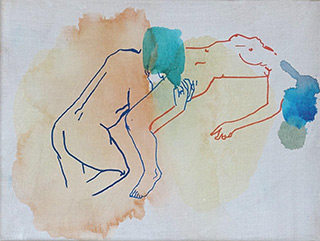 Agnieszka Sandomierz : French love : Tempera on canvas