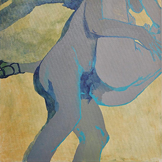 Agnieszka Sandomierz : Gold detail : Tempera on canvas
