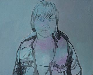 Agnieszka Sandomierz : I am tired : Tempera on Canvas
