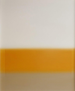 Anna Podlewska : Pearl white over the common beige : Oil on Canvas