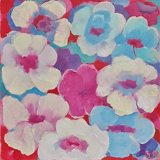 Beata Murawska : Field flowers : Oil on Canvas