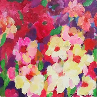 Beata Murawska : Flowery dream : Oil on Canvas