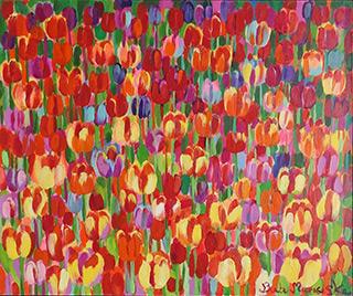 Beata Murawska : Lucky tulips : Oil on Canvas