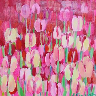 Beata Murawska : Pink secret : Oil on Canvas