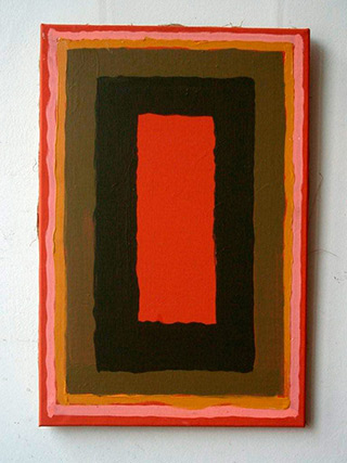 Łukasz Majcherowicz : Painting with crimson part : Oil on Canvas