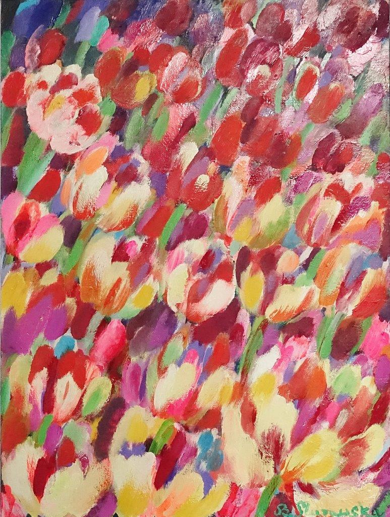 Beata Murawska : Wind over the tulip field