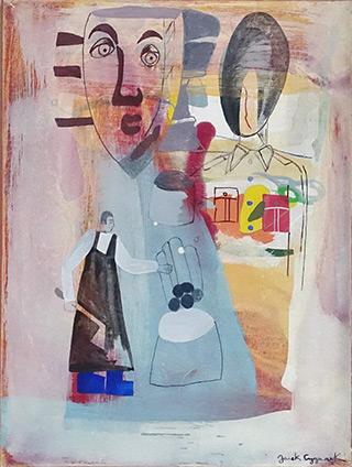 Jacek Cyganek : Every day : Tempera on canvas