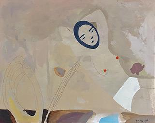 Jacek Cyganek : Half-act attempt : Tempera on canvas
