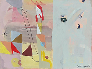 Jacek Cyganek : I am melting : Tempera on canvas