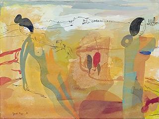 Jacek Cyganek : I won't say 'Bye' : Tempera on canvas