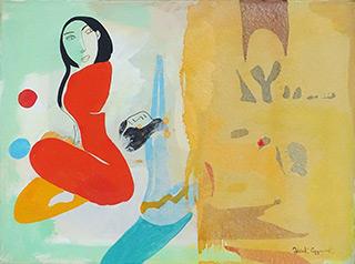 Jacek Cyganek : Once you have sat beside me : Tempera on canvas