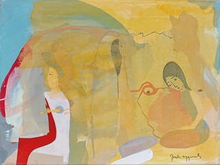 Jacek Cyganek : We all whisper : Tempera on canvas