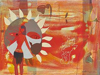 Jacek Cyganek : Which way to look : Tempera on canvas