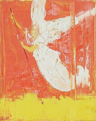 Jacek Łydżba : Angel with a spear : Oil on Canvas