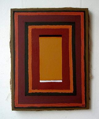 Łukasz Majcherowicz : Brown painting : Oil on Canvas