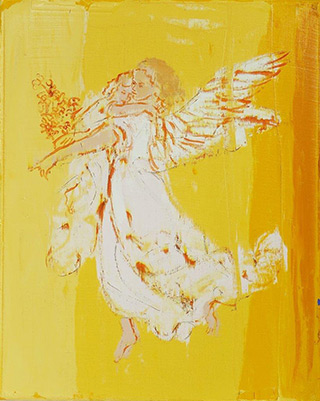 Jacek Łydżba : Guardian angel : Oil on Canvas