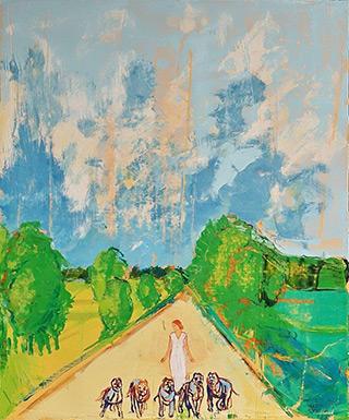 Jacek Łydżba : On the road : Oil on Canvas