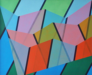 Joanna Stańko : The colors of the stained glass : Oil on Canvas