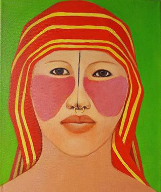 Katarzyna Castellini : Indian woman : Acrylic on canvas