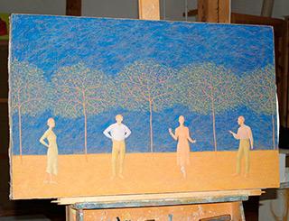 Mikołaj Kasprzyk : Adam & Eve : Oil on Canvas