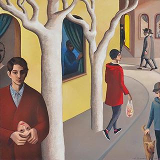 Katarzyna Karpowicz : Today is my birthday, Maurin : Oil on Canvas