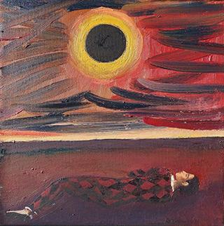 Katarzyna Karpowicz : Under the solar eclipse : Oil on Canvas
