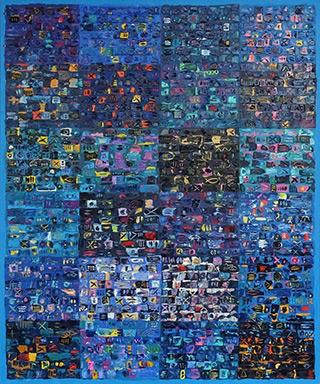 Krzysztof Pająk : Blue codes : Acrylic on canvas