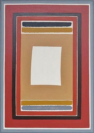 Łukasz Majcherowicz : White sail : Mixed media on canvas