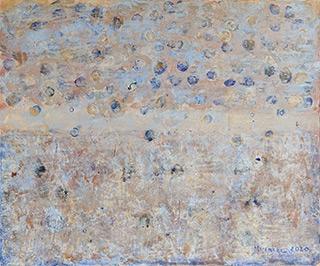 Martyna Merkel : Lunar landscape : Acrylic on canvas