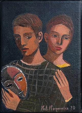 Katarzyna Karpowicz : Friends : Oil on Canvas