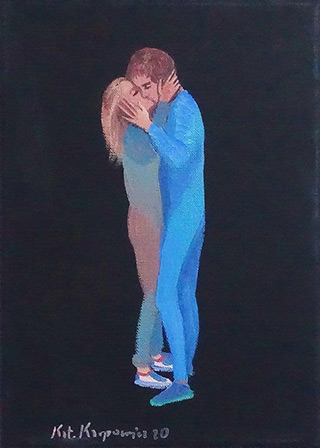 Katarzyna Karpowicz : Kiss : Oil on Canvas