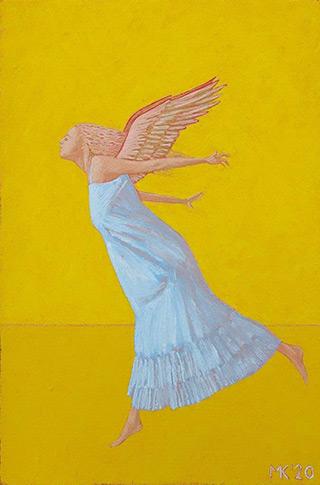 Mikołaj Kasprzyk : Angel to fly : Oil on Canvas
