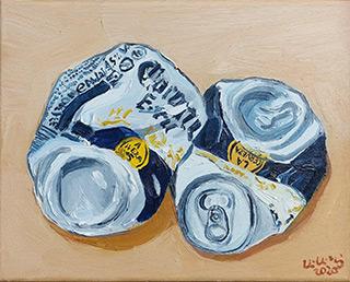 Krzysztof Kokoryn : Corona defeated : Oil on Canvas