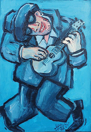 Krzysztof Kokoryn : Crazy Tom : Oil on Canvas