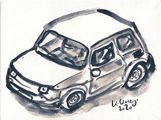 Krzysztof Kokoryn : Little Fiat : Ink on paper