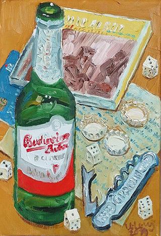 Krzysztof Kokoryn : Still life with Marc Ribot's CD : Oil on Canvas