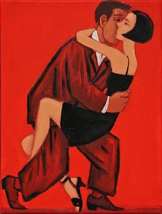 Krzysztof Kokoryn : Tango I : Oil on Canvas