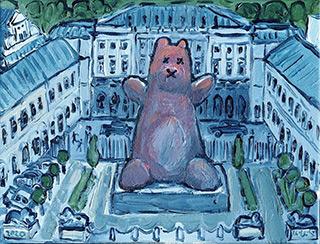 Krzysztof Kokoryn : Teddy bear in the Palace : Oil on Canvas