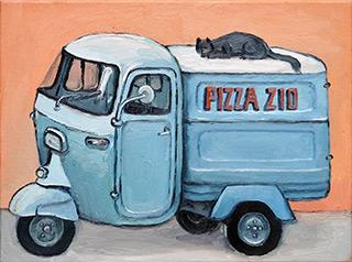 Krzysztof Kokoryn : Pizza Zio from Myślenice : Oil on Canvas