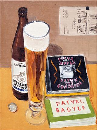Krzysztof Kokoryn : Still life with Fiona Apple CD : Oil on Canvas