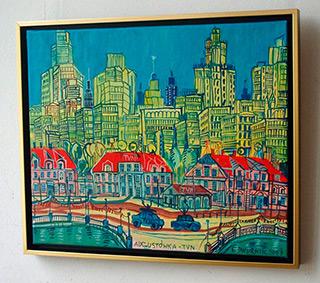 Edward Dwurnik : TVN Augustowka : Oil on Canvas